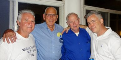 Mark Farris, Dick Kennedy, Stan Beattie & David Hooper on the eve of AGD1's release.  (Hooper home).