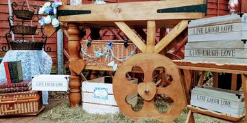 handmade  hire rustic sweet cart hire candy bar hire diy sweet station cart hire herts london