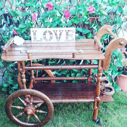 Sweet Trolley Hire Vintage Coconut cart Tea Trolley Hire Hertfordshire