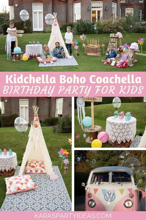 Kidchella Boho Coachella Party Ideas