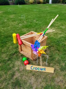Herts vintage Garden Hire croquet lawn games wedding day fun