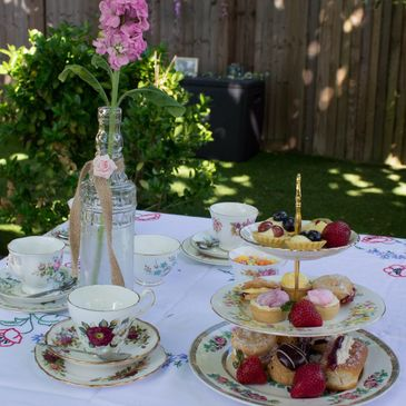 Herts Vintage Afternoon Tea Dainty Cakes Yummy Scones Vintage China Herts Vintage Hire