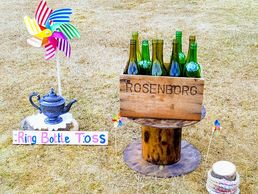 Ring bottle Toss Vintage Game Hire Wedding day entertainment hire shop Hertfordshire  lawn games