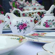 Herts Vintage China Hire Crockery Hire Afternoon Teas Vintage Teas Alice in wonderland