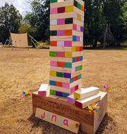 jenga vintage games hire hertfordshire london cambridgeshire  garden games lawn games herts vintage