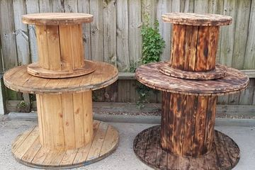 Hertfordshire Cable Reel Hire, Dessert bars Drinks Stations Unique Ideas Seating Tables Chairs...