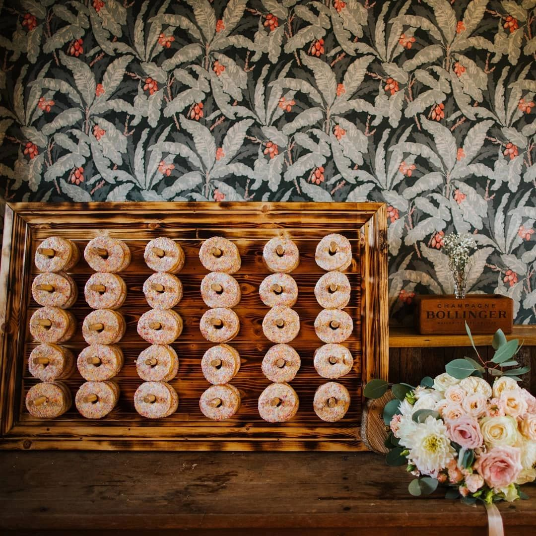 Rustic Doughnut Wall Hire Hertfordshire Creative Event & Wedding Décor Hire Shop