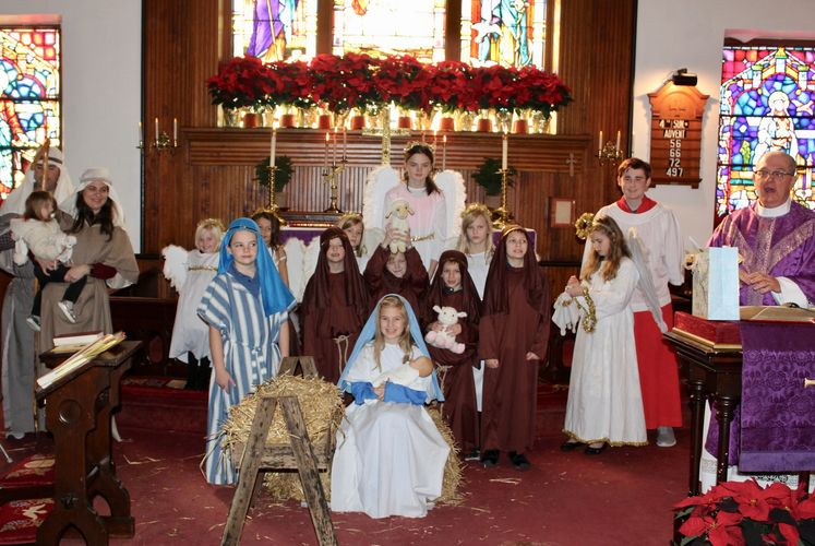 Join us for a Christmas Eve Nativity Mass at 4:00 pm via Facebook.