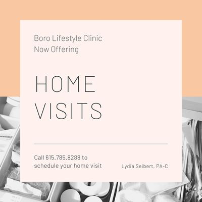 Home Visits, House Call, Lifestyle Clinic, Come to your home, Weekends, Outside Office Hours, Holidays, Sick visits, Seen in Home