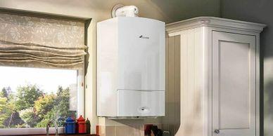 A modern gas boiler