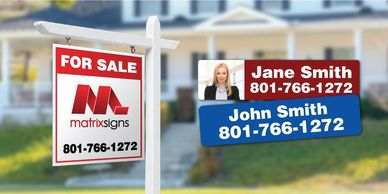 Custom Real Estate Signs and Name Riders