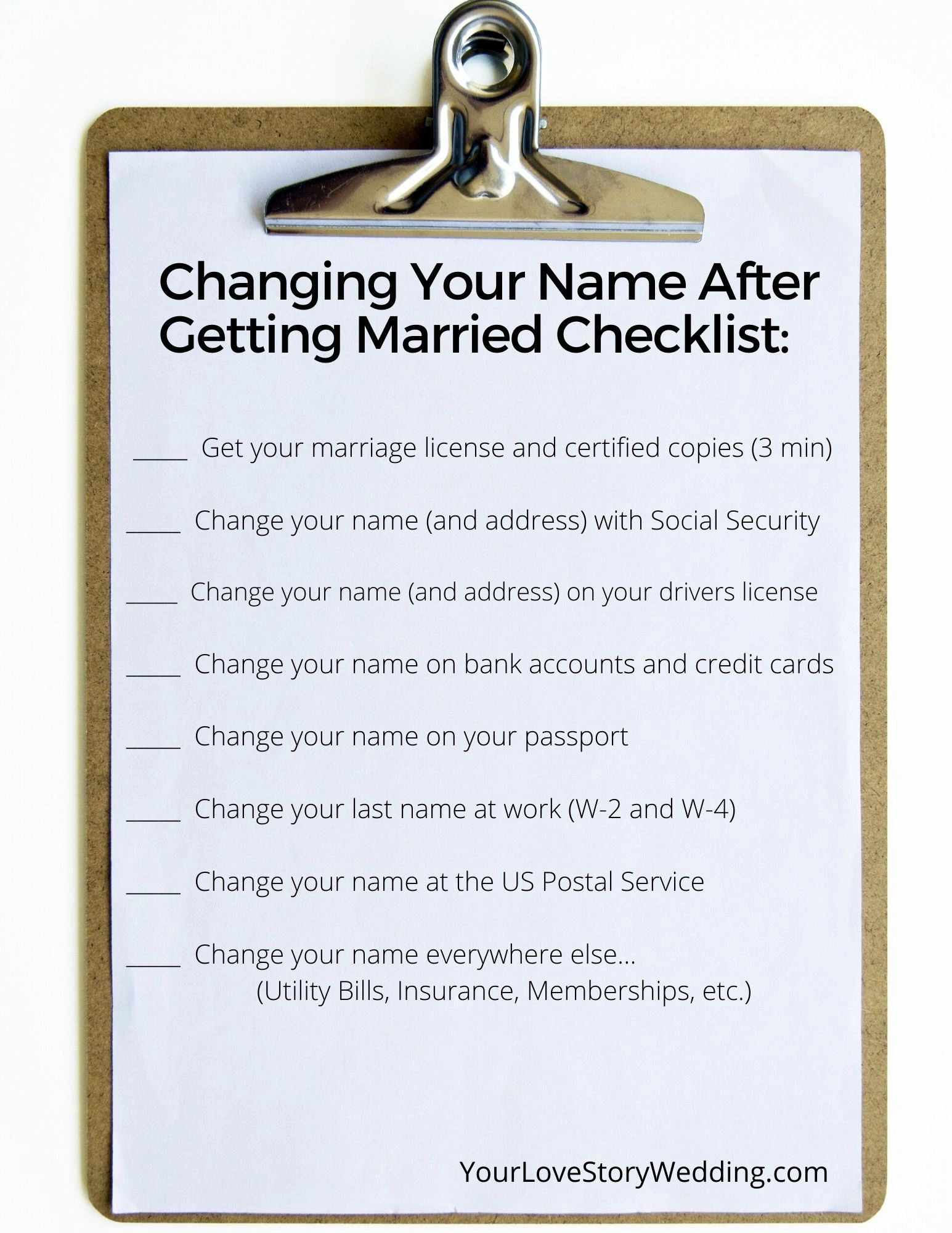 Changing Your Name After Getting Married