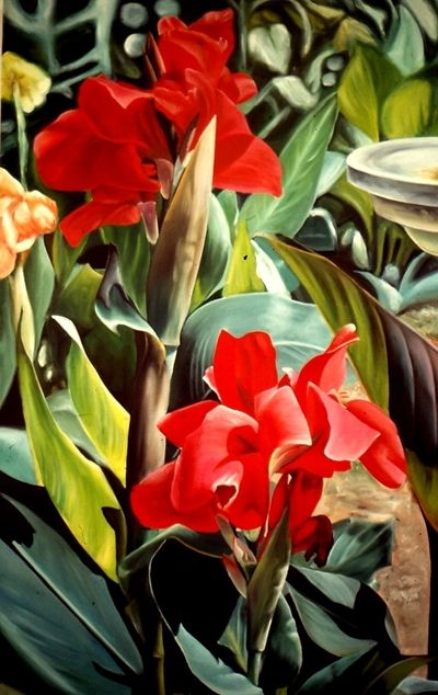 "Title: ""Muse's Canna's"" - 2003 medium: Acrylic on canvas  size: 48"" X 36"" V"