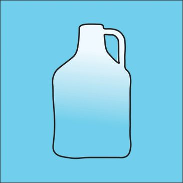 Growler outline on blue background