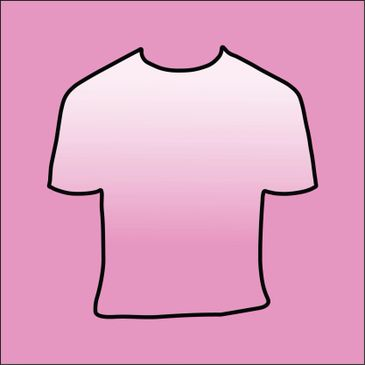 T-shirt outline on pink background
