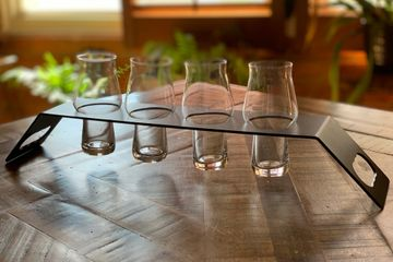 Beer paddle Timber beer paddle Steel beer paddle Tasting paddle Beer tasting paddle Rastal glasses