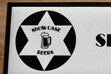 Bar mats Bar runners Printed bar mat Beer mat Bar mat printing Craft beer Craft beer merch Bar merch