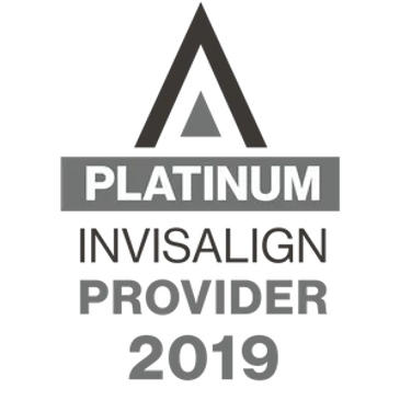 Platinum Invisalign provider 2019 badge