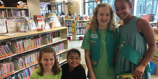 Troop 964 earned their Bronze award helping kids to read.