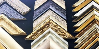 Picture frame mouldings in Art and Home Holywood