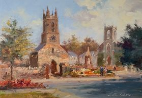Holywood Priory painting by Colin Gibson