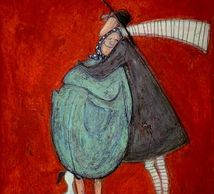 man and woman in love by Sam Toft