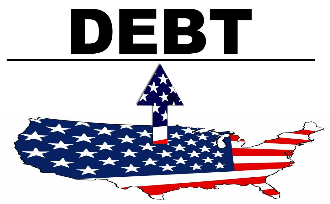 Debt Ceiling Primer - picture of USA with Debt on top.
