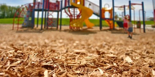 playground mulch chips school church backyard wood bulk play kids family
