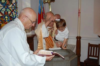 Baptism at St. Mark's Episcopal Church, Newark