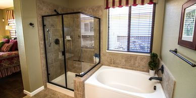 Semi Frame-less, Framed, shower enclosures, Dallas, Fort Worth, Arlington, Mansfield, and Kennedale.