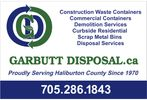 In Kind donor - Garbutt Disposal