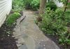 Pennsylvania Blue Irregular Flagstone Walkway & Stacked Wall with Stone Joints