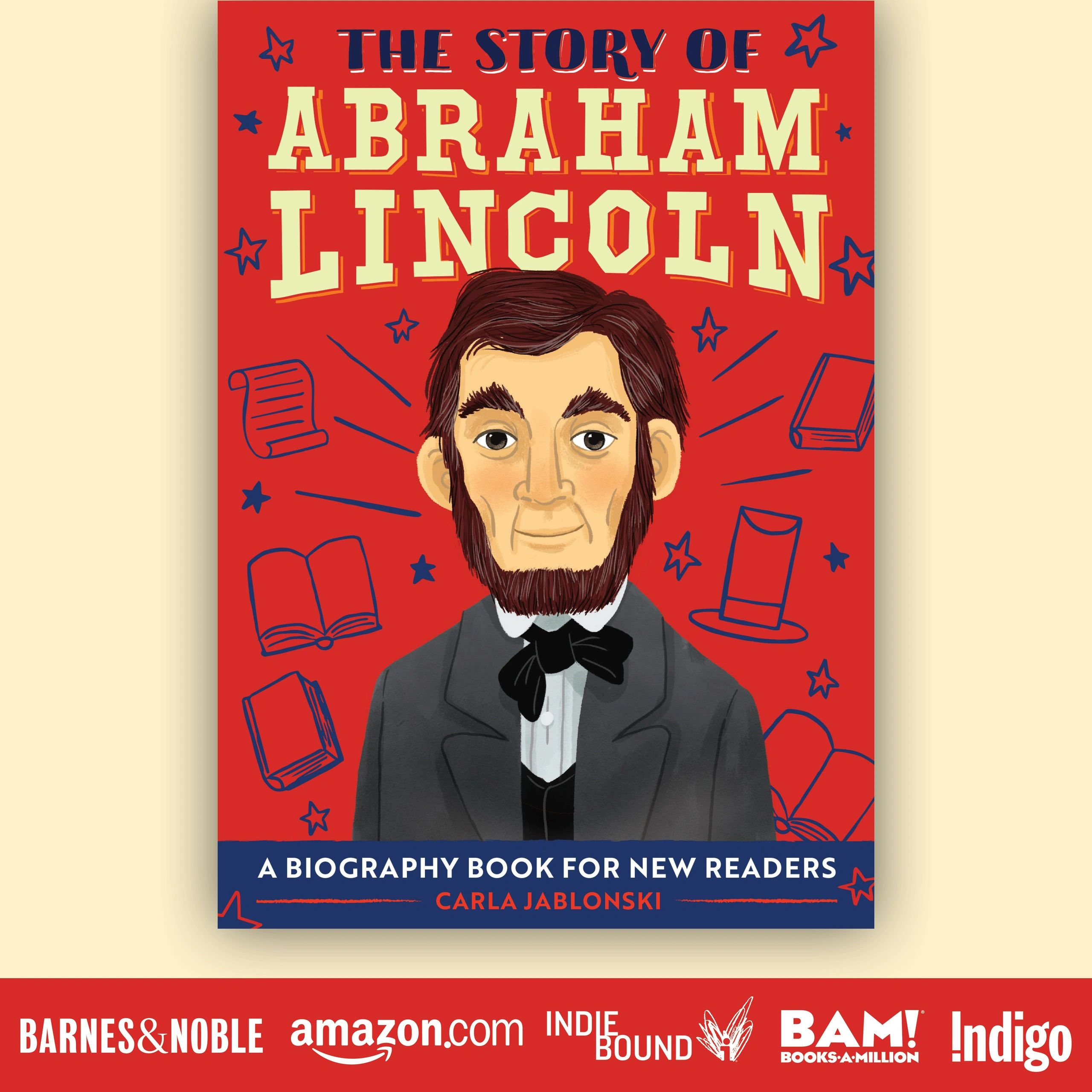 Cover of biography of Abraham Lincoln for 2nd graders