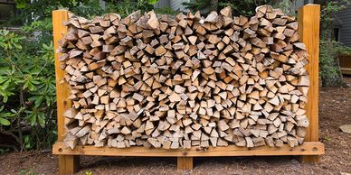 cord wood, cut wood, stacked wood, seasoned firewood, we deliver, we stack for you, pick up wood