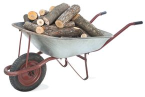 firewood by the wheelbarrow, truck load or car load, firewood delivery and stacking, seasoned