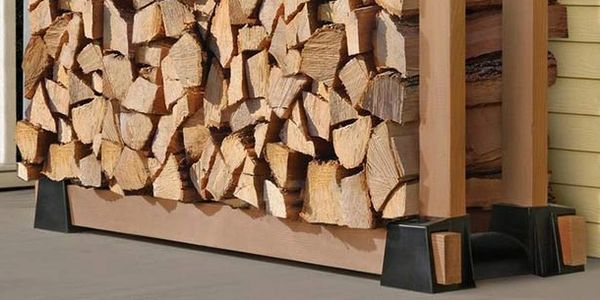 DIY, firewood storage, safety, cord wood, fireplace, outdoor fire, stacking firewood