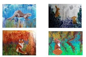 Greeting cards and notelets reproduced using images from original paintings