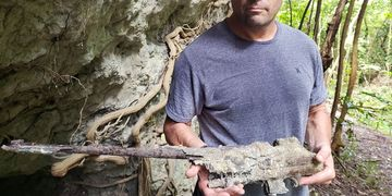 Geoffrey Wawro finds B.A.R. in caves of Peleliu.