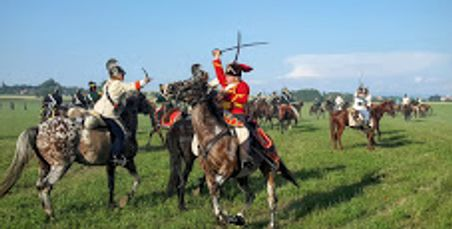 Geoffrey Wawro views cavalry battle of Stresetice reenactment.