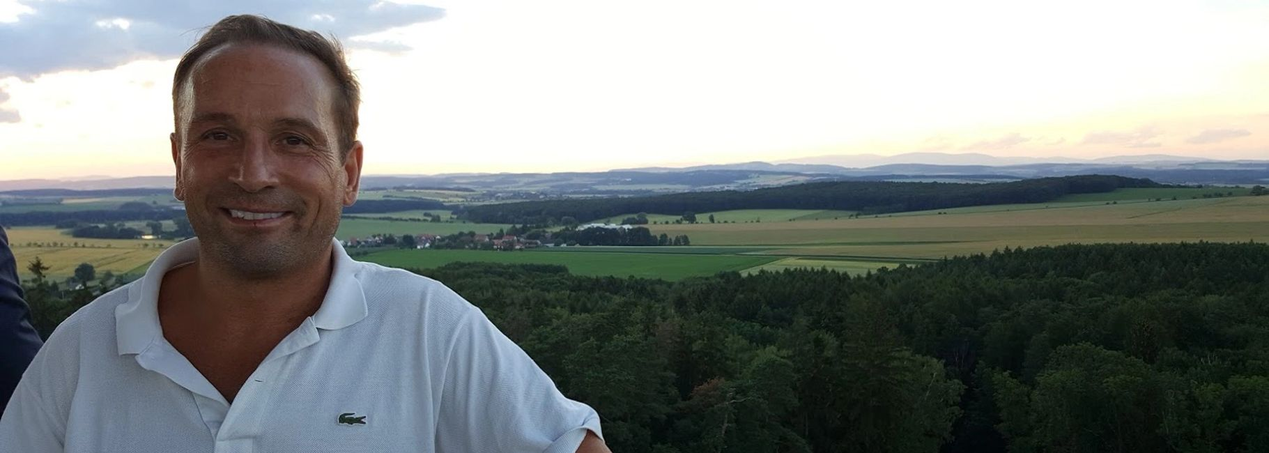 Geoffrey Wawro on the Heights of Chlum, near Sadova, on the battlefield of Koeniggraetz.