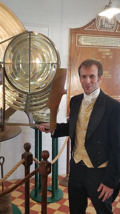 Joseph Smith as Augustin Fresnel at Montauk Lighthouse