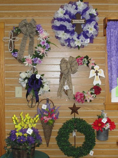 Spring wreaths and wall hangings