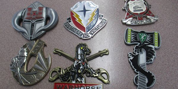 Military Challenge Coins, custom designed and manufactured