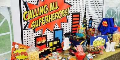 Superhero Party hosted by Pop the Balloon! Childrens Parties & Events