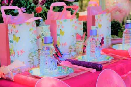Butterfly Party Table Setting by Pop the Balloon! Children's Parties & Events