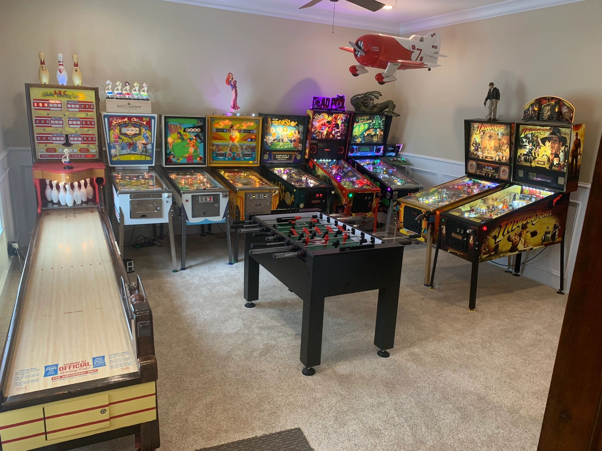 A pinball machine collection serviced by RB