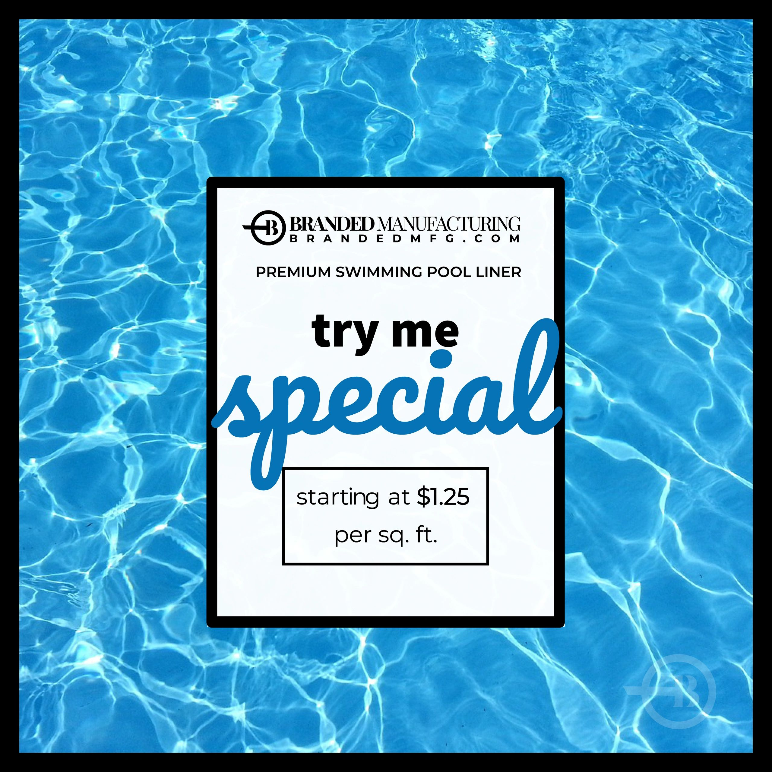 Swimming Pool Liner Try Me Prices Perfect for Pool Season