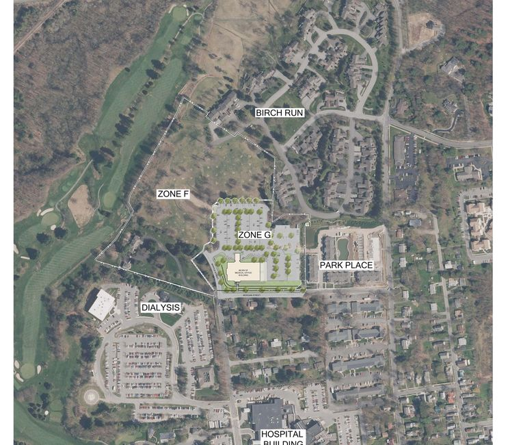 Arial View of proposed Medical Building
