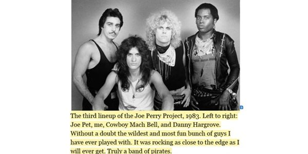 The third lineup of the Joe Perry Project - Joe Pet