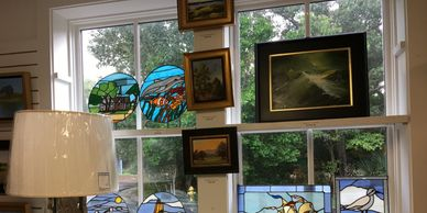 stain glass, fused glass, glassworks